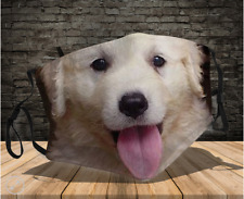 Kuvasz Face Mask Gift For Dad Printed in Us High Quality Washable Fits All Dog