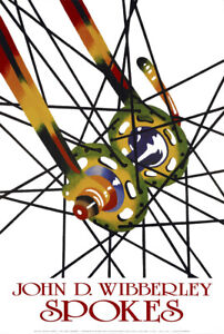 "John D Wibberley Cycle Art - Original ""Spokes"" Print 16"" x 24"""