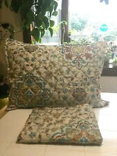 Pair Of Quilted Microfiber Standard Pillow Shams Medallions