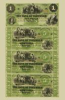 1859 Tecumseh, MI- Tecumseh Bank $1-$5-$5-$5 Uncut Sheet COPY