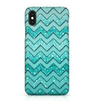 Lush Blue Green Colourful Chevrons Pattern Dazzling Effect Phone Case Cover