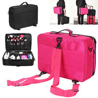Professional Large Make Up Bag Vanity Case Cosmetic Nail Storage Beauty Box UK