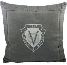 Kissen Sports Vintage grau mit Füllung - Dekokissen ca 45x45 cm Zierkissen