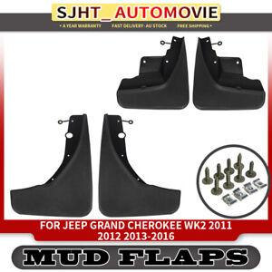 4x Mud Flaps Splash Guards Mudflaps fit Jeep Grand Cherokee WK2 2011-2016 SUV