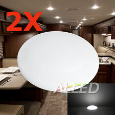 2X12V LED Roof Cabin Light Cool White Caravan/Motorhome/RV/Marine Ceiling Lamp