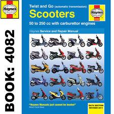 Twist Y Go (transmisión automática) 50-250cc Manual de taller Haynes Scooters