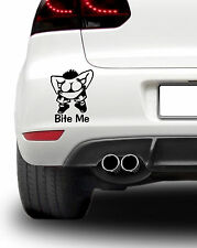Bite Me Moonie humor Coche Decal Sticker Diversión Motor Racing Rally Libre P&P