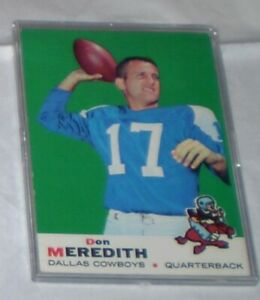 Don Meredith 1969 Topps Card #75    EX