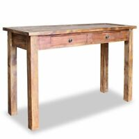 """vidaXL Solid Reclaimed Wood Console Table 48.4"""" w/ 2 Drawers End Hall Entryway"""