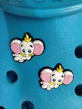 2 Dumbo encantos del zapato Para Crocs Y Jibbitz Pulseras. Uk libre de envío