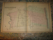 Antique Englewood Palisades Park Ridgefield Teaneck Bergen County New Jersey Map