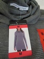 Adrienne Vittadini Ladies' Cowl Neck Tunic Sweater - Steel Heather - Sz M - NWT