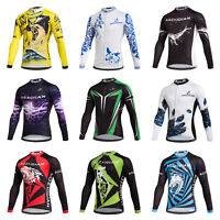 Men's Cycling Long Sleeve Jersey Bike Clothes Bicycle Cycle Tops Shirts S-5XL
