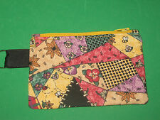 """CRAZY QUILT"" Coin Purse w/ Key Ring -Handmade"