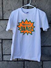 Vintage Wanna Bang Shirt Size XL Orange Bang Juice Single Stitch Made In USA