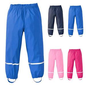 Children Waterproof Mud Pants Rain Dungarees Breathable Game Pants Rain Pants DE