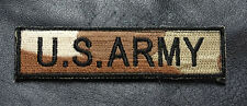 US ARMY 4 INCH NAME TAG TACTICAL COMBAT MORALE  HOOK PATCH