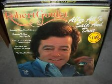 ROBERT GOULET after all is said and done ( pop ) SEALED NEW