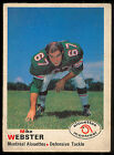 1970 OPC O PEE CHEE CFL FB #109 Mike Webster EX-NM MONTREAL ALOUETTES Notre Dame