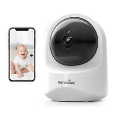 Wansview Baby Dog Pet Monitor 1080p Q6 Security Video Camera works w/ Alexa