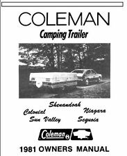COLEMAN Popup Trailer Owners Manual-1981 Sun Valley Sequoia