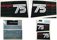 1975 Johnson Outboard Stinger Hood Decals 3 cyl 75 hp.