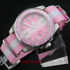 40mm Sterile pink dial Ceramic bezel Sapphire glass Automatic Women Watch Girls