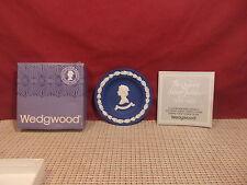 "Wedgwood China Royal Blue Jasperware Round Sweet Meat Dish 4 3/8"""