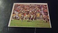 1966 Philadelphia Football #104 Los Angeles Rams Action Card VS Cleveland  - EX