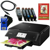 Canon PIXMA TS8020 Wireless Inkjet All-in-One Printer Scanner & Copier (Black)