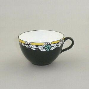 RARE Vintage Shelley Tea  Cup  No-11412 Black with Blue Grapes