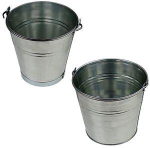 Zinkeimer Blecheimer verzinkt 5-15 Liter Wassereimer Metalleimer Dekoeimer