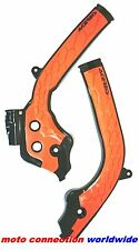 NEW ACERBIS X-GRIP FRAME GUARDS BLACK ORANGE 2017 KTM SX125 SX150 SX250