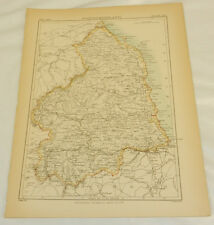 1884 Antique COLOR Map/NORTHUMBERLAND, ENGLAND