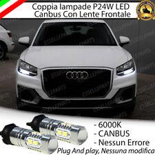 COPPIA LAMPADE DIURNE DRL 10 LED PW24W CANBUS AUDI Q2 6000K NO ERROR