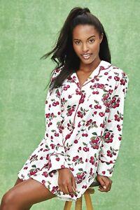 BedHead Pajamas Cherries in Bloom Sateen L/S Classic Nightshirt - BH2321203-6183