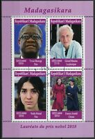 Madagascar 2019 CTO Nobel Prize Winners 2018 4v M/S Peace Physics Stamps