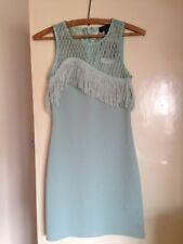 Topshop 1920s style Green Fringe Dress size 8