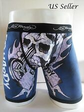 Ed Hardy Men's Black Rock Motorcycle Print Short Boxer Briefs Size M-10% off