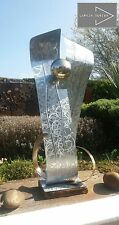 Large Abstract Galvanisé Métal Art Sculpture En Acier Inoxydable Boule Jardin