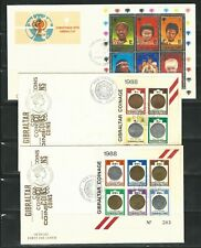 Gibraltar: Lot of 5 first day cover with mini sheet different with rust. GI42