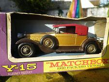LESNEY MATCHBOX YESTERYEAR Y-15 PACKARD VICTORIA bronze neuve en boite d'origine