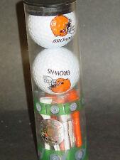 NFL 2 Golf Balls & Tees Set, Cleveland Browns, New