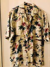 VTG 90's Tommy Bahama 100% Rayon Wrinkled Look Hawaiian Shirt Sz. S