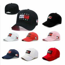 Unisex Tommy Hilfiger Hat   Tommy Jeans Flag Logo Baseball Cap   Navy Snapback