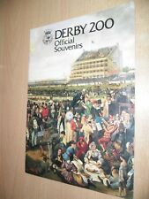 Derby 200 Official Souvenirs 12-Page Catalogue Printed by Byron Advertising 1979