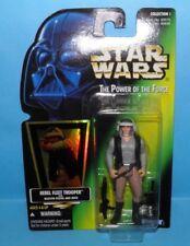 Star Wars Power of the Force Rebel Fleet Trooper Holo Green Card 1997 Coll 1