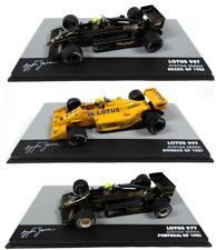 Lot de 3 Formule 1 Lotus Ayrton Senna (1985 à 1987) 1/43 Voiture F1 - LA1