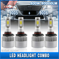 Combo 9005 9006 LED Headlight Kit for Chevy Silverado Tahoe 1999-2006 Hi/Lo Beam