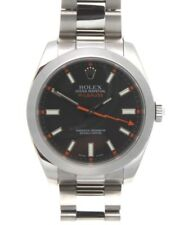 Authentic Rolex 116400 Milgauss Stainless Steel With Black Dial 40mm